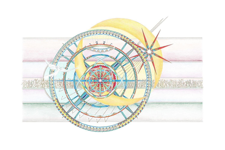 Geometrische Kunst 03-18 Janny Coster| Heilige Geometrie