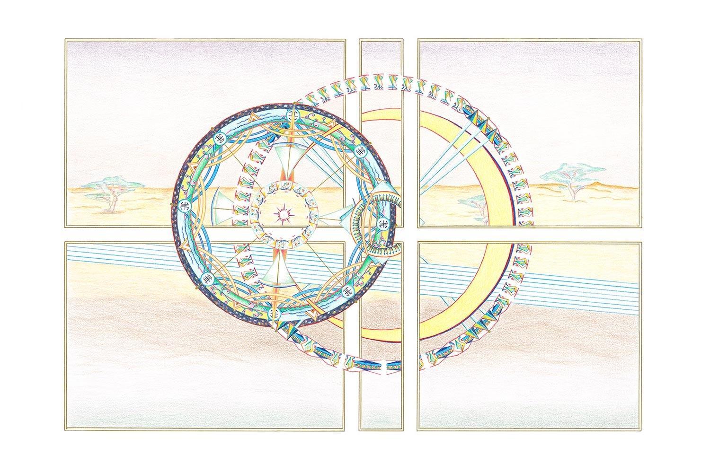 Geometrische Kunst 04-18 Janny Coster| Heilige Geometrie